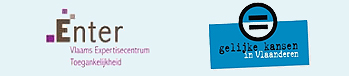 Logo's Enter vzw en Cel Gelijke Kansen